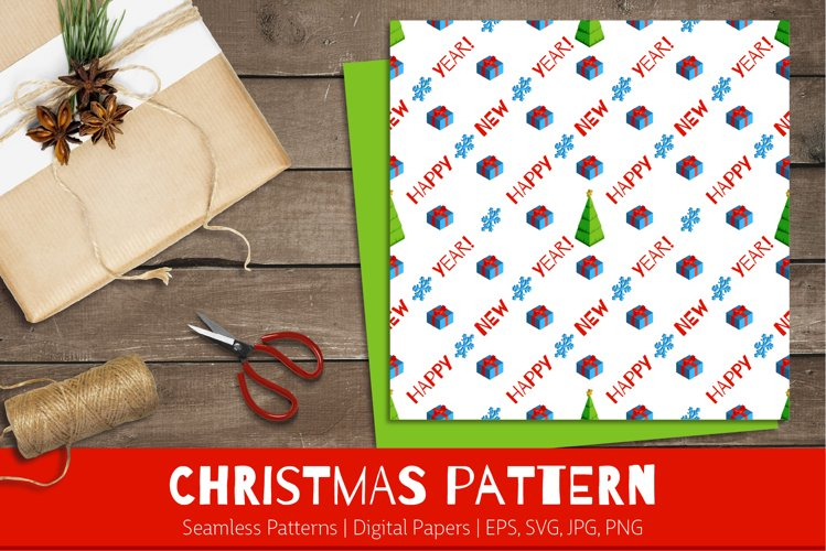 Christmas Gifts   Seamless Patterns   Digital Papers example image 1