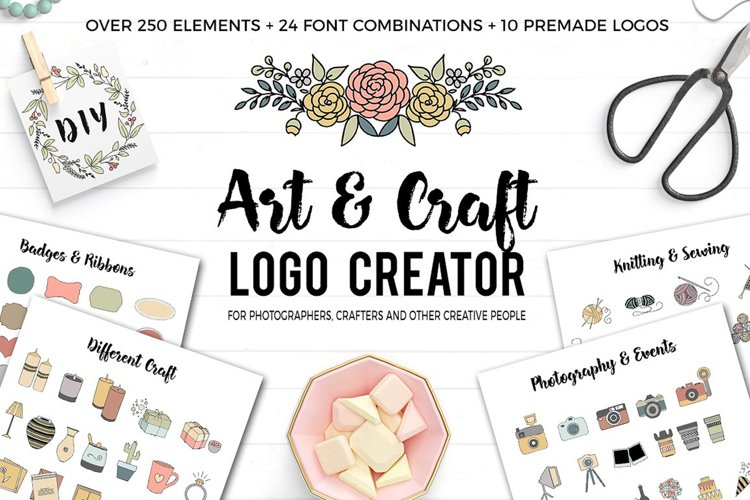 Art and Craft Logo Creator example image 1