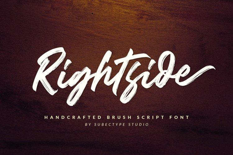 Rightside / Brush Script Font example image 1