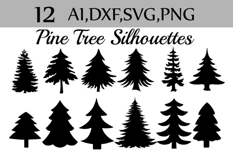 Svg Pine Tree clipart example image 1