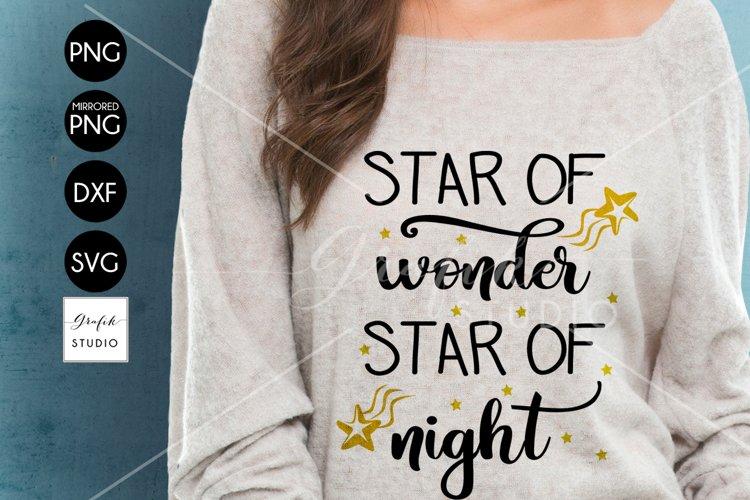 Star Of Wonder Star Of Night Christmas holiday SVG File