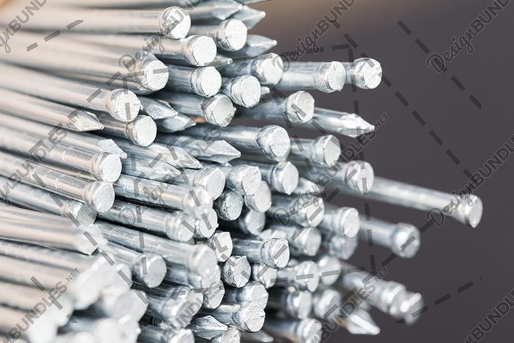 Galvanized steel nails example image 1