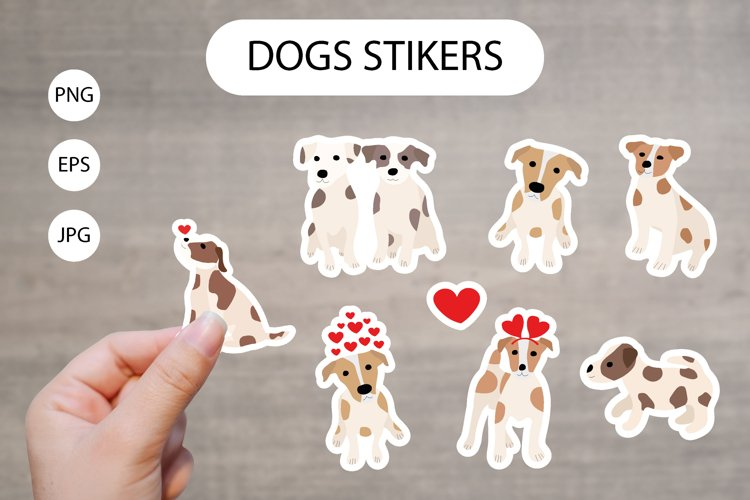 Cute Dogs Printable Stickers Cricut Design/Animal characters