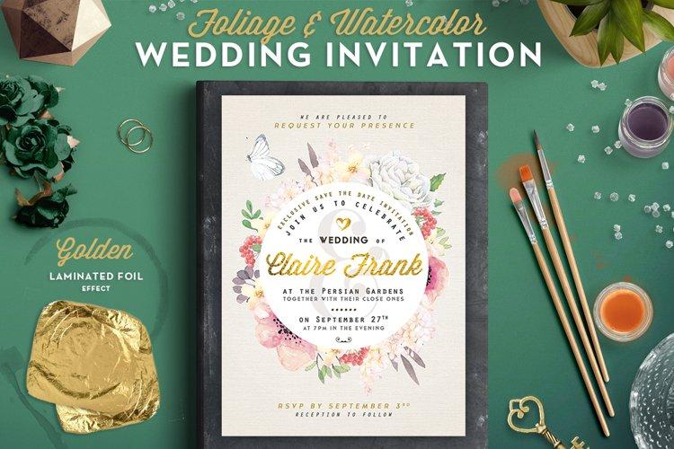Foliage & Watercolor Wedding Invite II example image 1