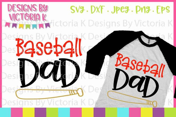 Baseball svg, Baseball Dad, Love Baseball, SVG, DXF, PNG example image 1