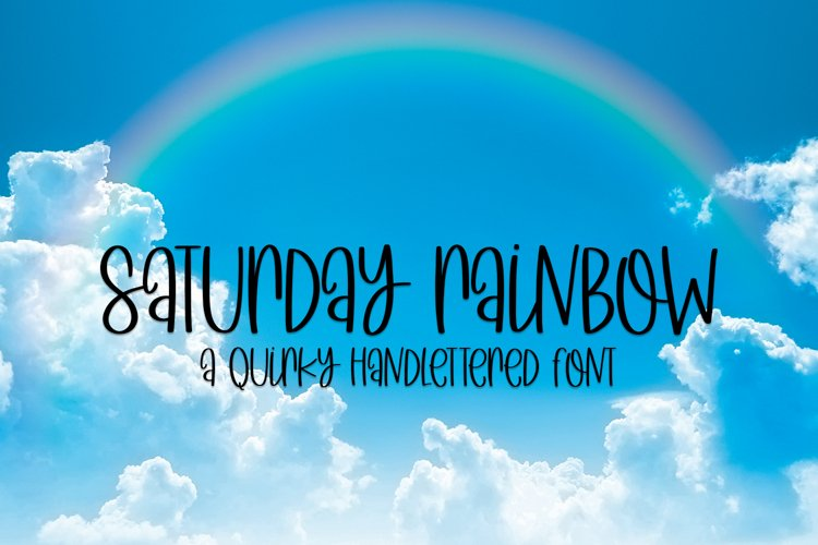 Saturday Rainbow - A Quirky Handlettered Font example image 1