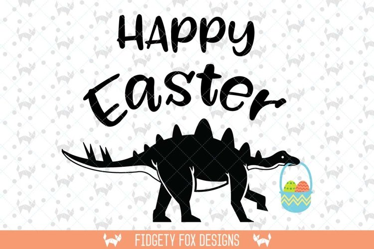 Happy Easter Dinosaur SVG DXF, EPS, png Files for Cutting Machines Cameo or Cricut - Easter svg Dinosaur svg