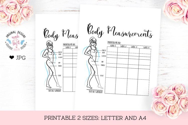 Body Measurements Chart example image 1