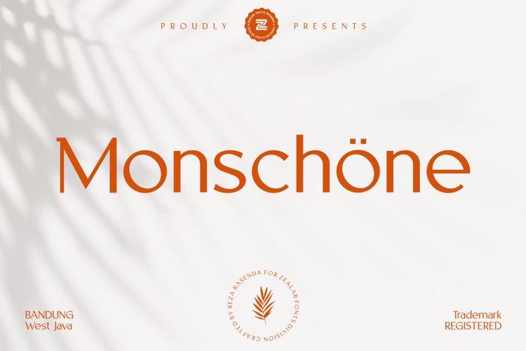 Monschone Luxury Font example image 1