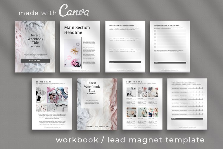 Workbook / Opt-in Lead Magnet Canva Template   Silver example image 1