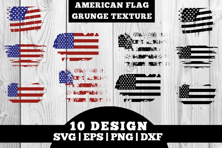 American Flag / USA Flag Grunge Texture SVG, PNG, EPS, DXF