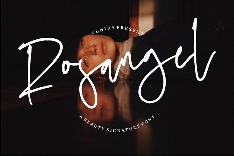 Rosangel | A Beauty Signature Font example image 1