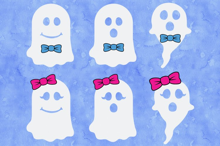 Halloween SVG, Ghost SVG, Cute Ghost SVG Cut Files, Spooky. example image 1