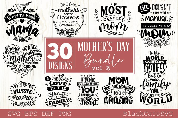 Mother's Day SVG bundle 30 designs Mother's Day SVG vol 2 example image 1