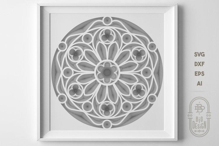 3D Layered MANDALA | Paper cut project | Stacked paper