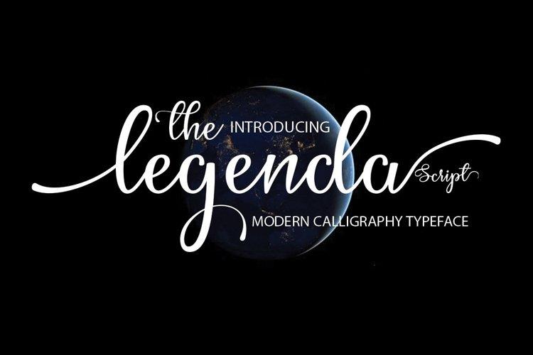Web Font The Legenda Script example image 1