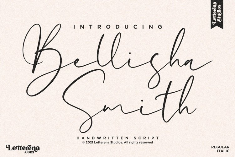 Bellisha Smith - Signature Script Font example image 1