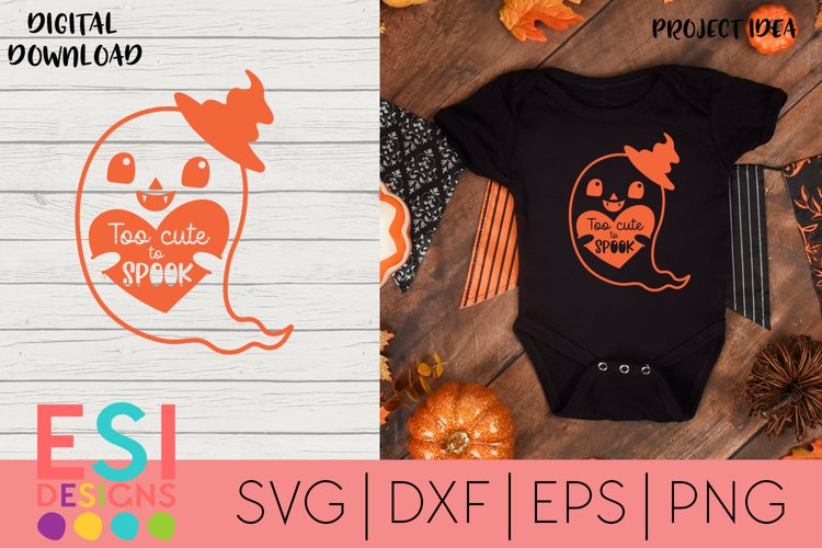 Halloween SVG |Too cute to Spook | SVG cut files example image 1