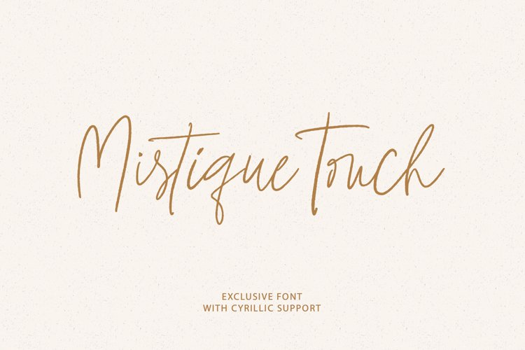 Mistique Touch Latin & Cyrillic example image 1