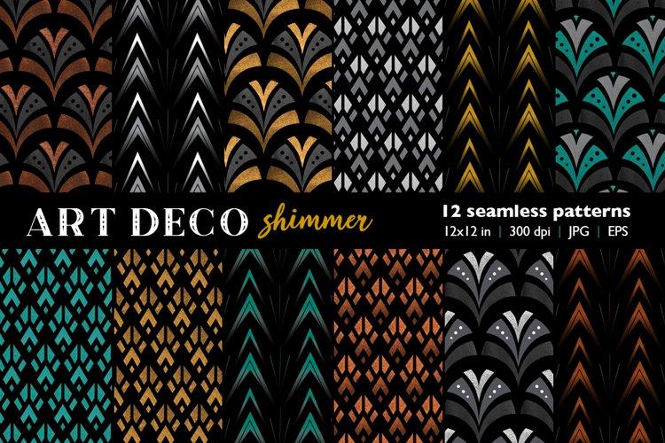 Seamless Art Deco Patterns, Art Deco Digital Paper Pack