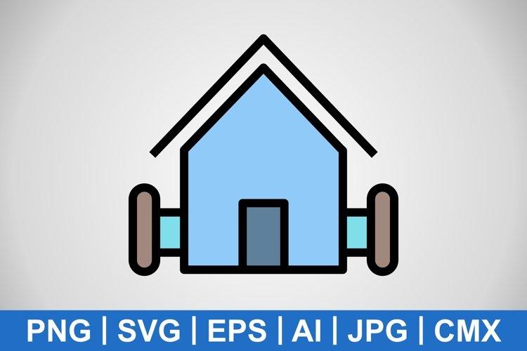 Vector Farm House Icon example image 1