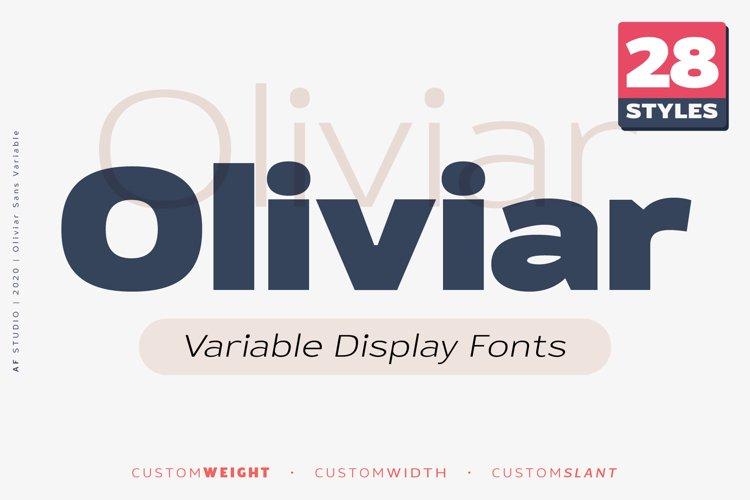Oliviar Sans - Variable Display Fonts example image 1
