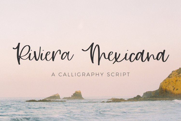 Riviera Mexicana Calligraphy Script example image 1