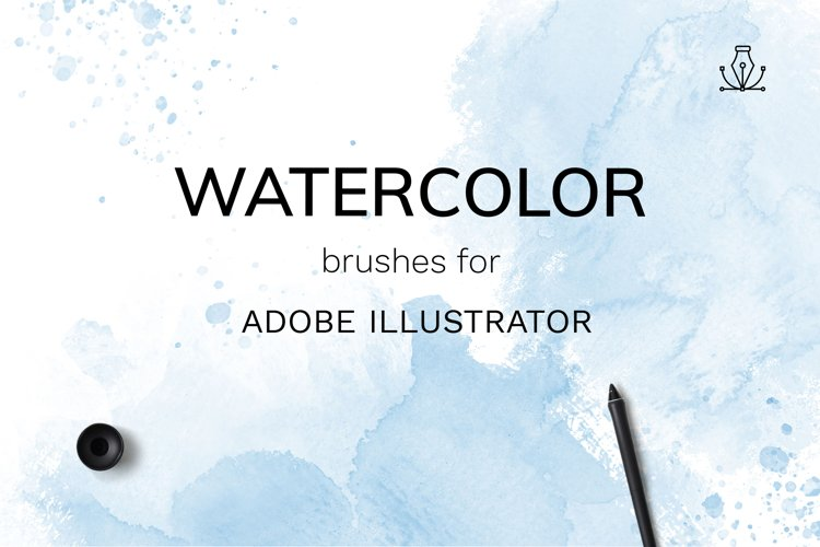 Vector Watercolor brushes example image 1