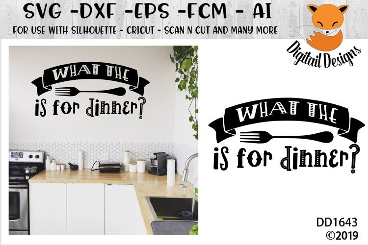 What the Fork Is For Dinner SVG example image 1