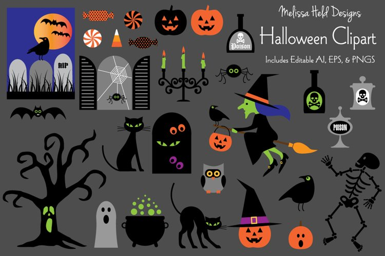 Halloween Clipart example image 1