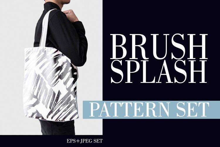 Brush Splash mega set - pattern art example image 1