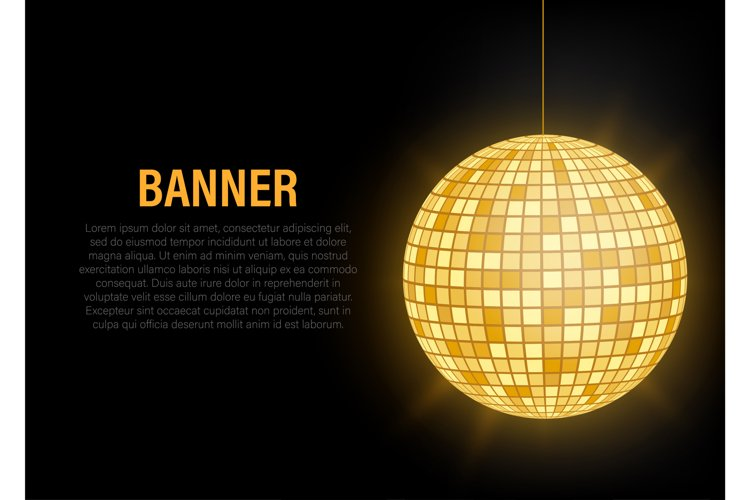 Gold Disco ball icon isolated on grayscale background. example image 1