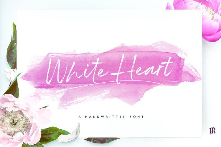 White Heart Font example image 1