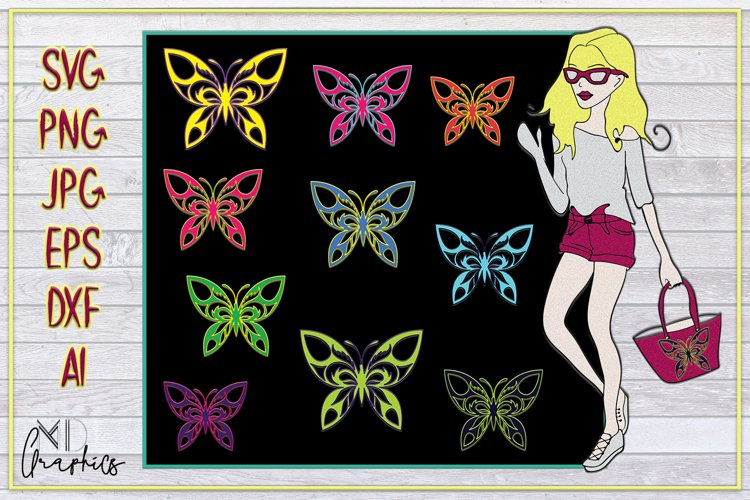 Butterflies SVG, PNG, DXF, AI, DXF, JPG, DOWNLOAD IMAGES example image 1