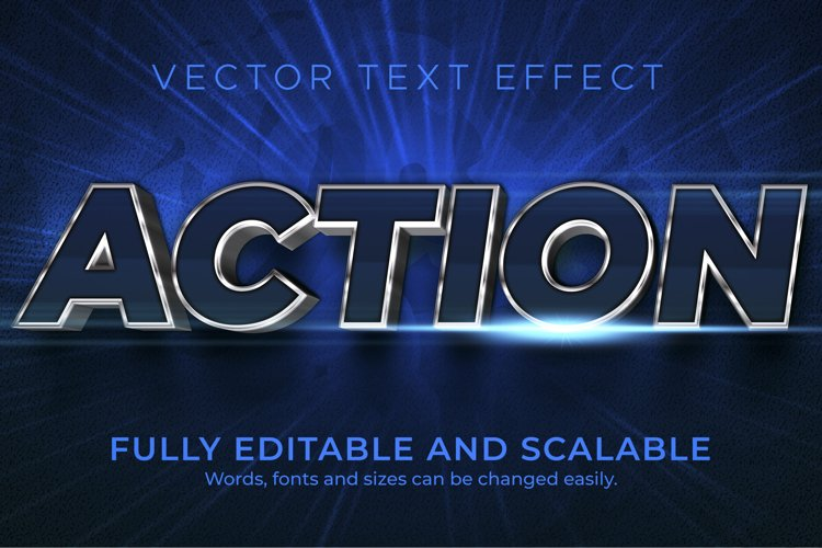 Movies, action text effect, editable cinema and show text example image 1