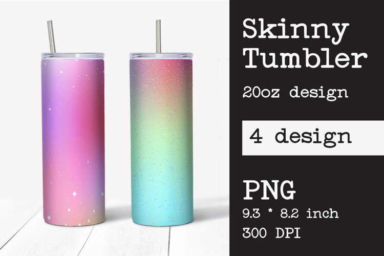 Skinny tumbler sublimation template 20 oz
