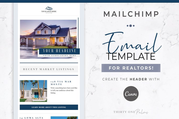Email Template for Mailchimp & Canva | Real Estate | Realty example image 1