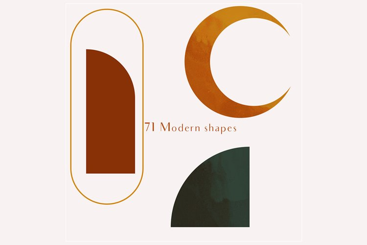 71 Modern shapes clipart illustrations example 7