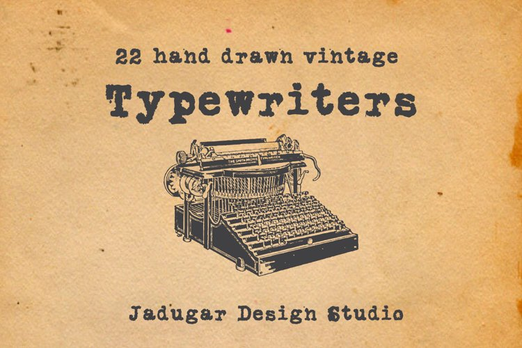 22-hand drawn typewriters example image 1