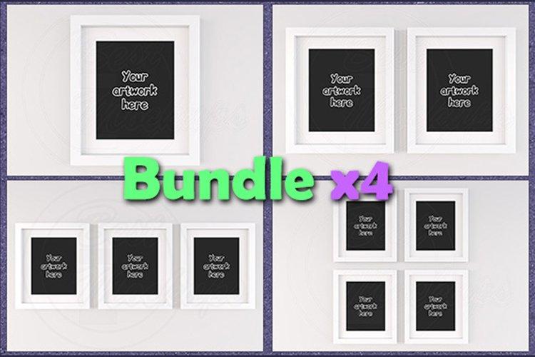 Mockup white frames 8x10 BUNDLEx4