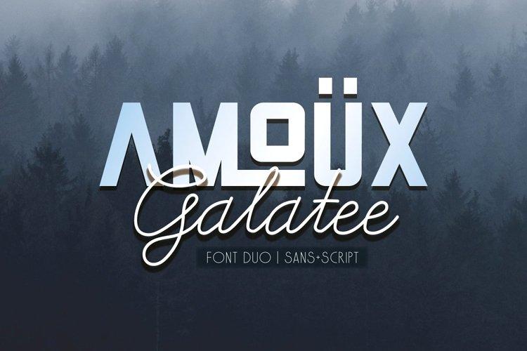 AMOÜX & Galatee | Font Duo example image 1