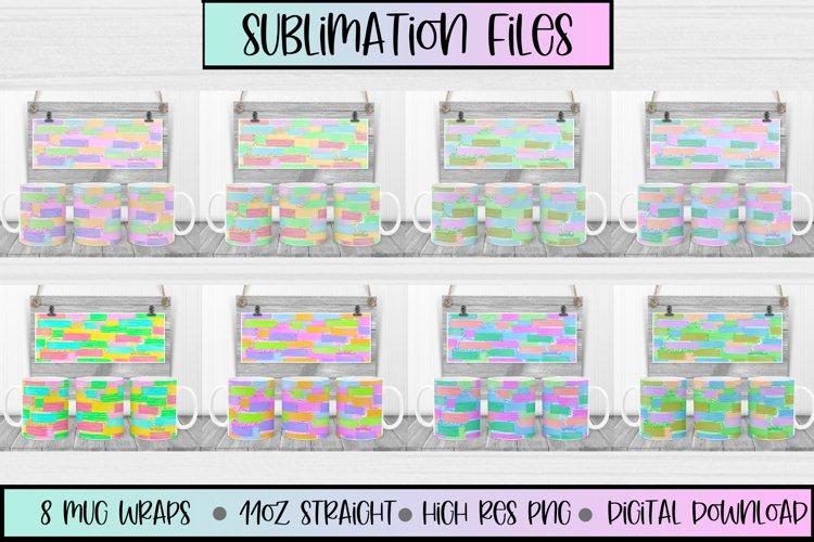 11oz Mug Sublimation files Abstract Strokes , 8 mug wraps