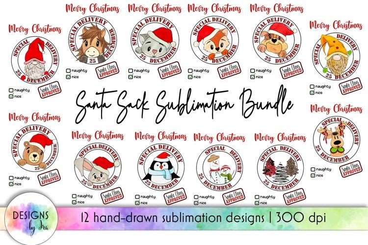 Santa Sack Bundle of 12 Designs | Christmas Gift Bag Print example image 1