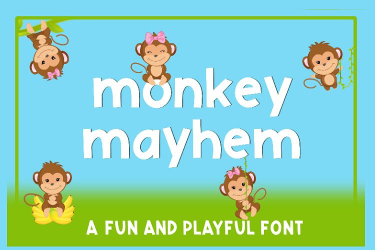Monkey Mayhem - A fun and playful font example 9