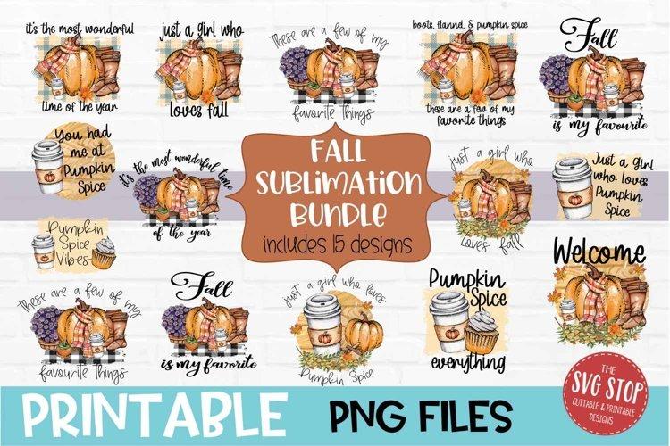 Fall Sublimation Design Bundle