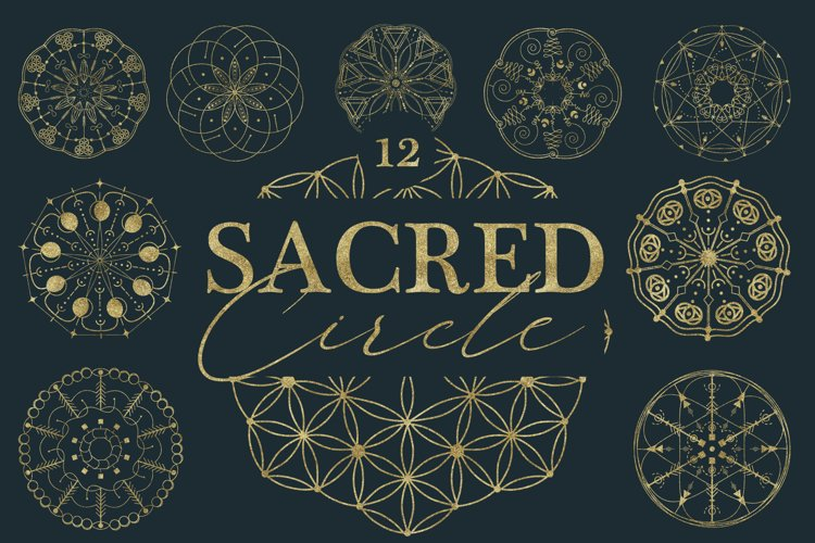 Sacred Circle geometry SVG, PNG, Ai, DXF example image 1