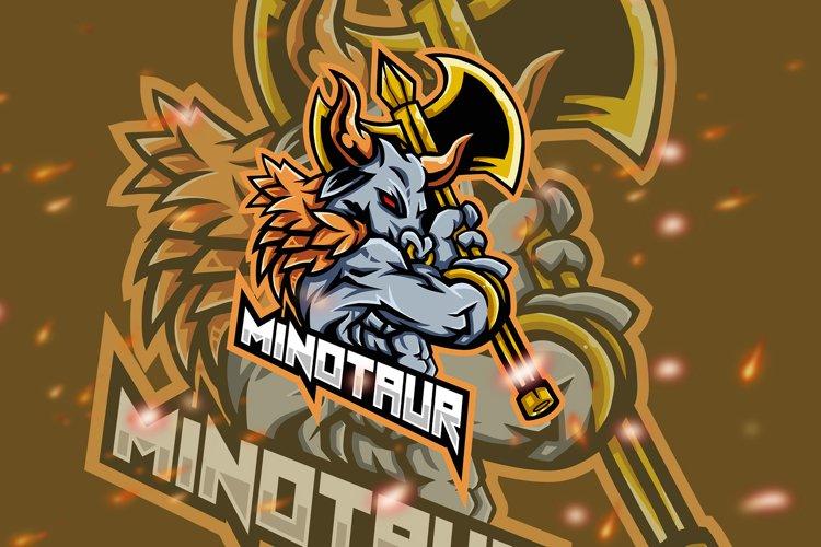 Minotaur Squad Esport Gaming Logo example image 1