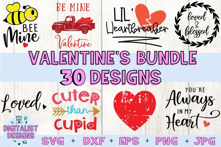 Valentines Bundle | Valentine's Day SVG Bundle | example image 1