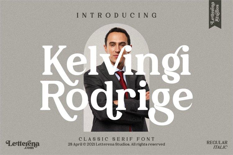 Kelvingi Rodrige - Luxury Serif Font example image 1