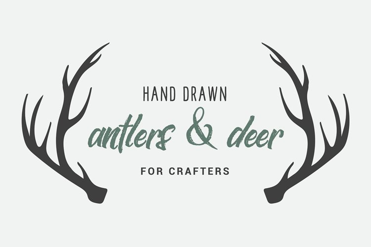 Hand Drawn Deer & Antlers for Crafters example image 1